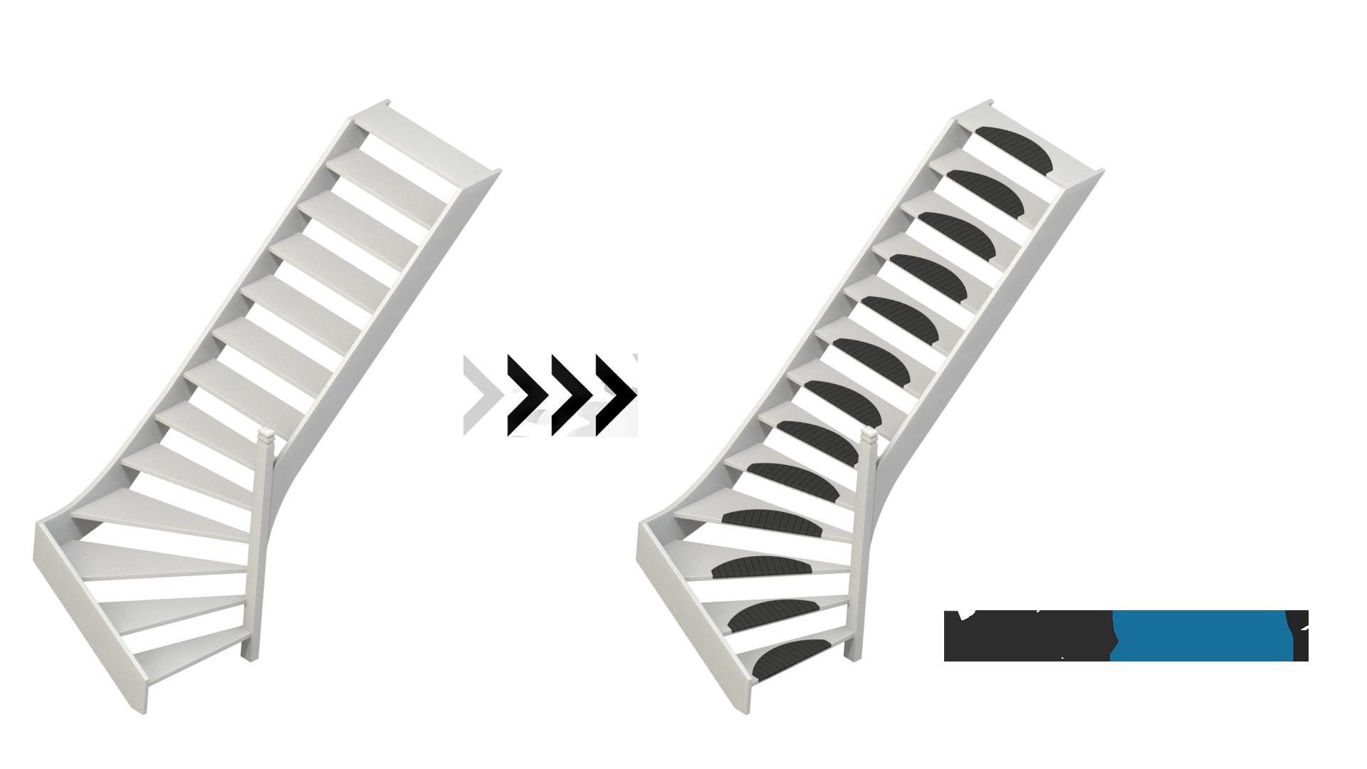 open-gedraaide-trap-met-kunststof-trapmatten